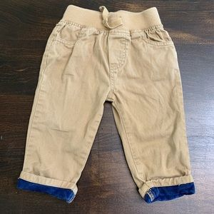 Cherokee Tan Pants with Cuffed ankles